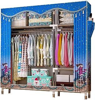 daily supplies Armoire de Rangement Pratique pour Vêtements,Simple Moderne Autoportant Vêtements Placard Stockage Rack Com...