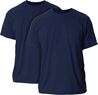 Gildan Men's Ultra Cotton T-Shirt, Style G2000, 2-Pack, Navy, 5X-Large
