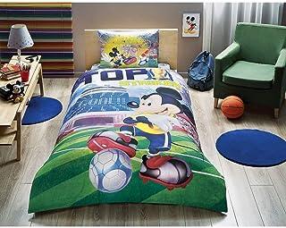 3pc juego de funda de edredón de cama de Mickey Mouse Objetivo nuevo con licencia 100% algodón/Disney Mickey Mouse Objetivo,–Juego de funda de edredón para cama doble