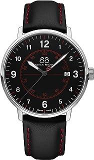 88 Rue du Rhone - Reloj de Cuarzo Suizo Newold Collection para Hombre 87WA184007 Esfera Negra