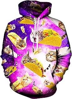 RAISEVERN Unisex 3D Print Casual Pullover Long Sleeve Fleece Hooded Sweatshirts