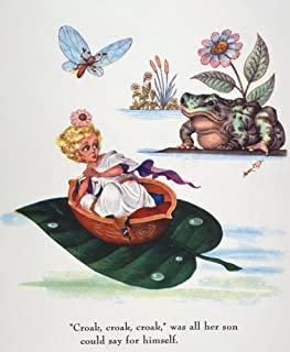 Andersen Thumbelina NSailing Down The Stream On A Leaf Drawing By Arthur Szyk For The Fairy Tale Thumbelina By Hans Christ...
