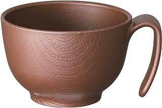 スケーター 木目 持ちやすい 茶碗 370ml ハンドル付 ブラウン 日本製 NBLS1H