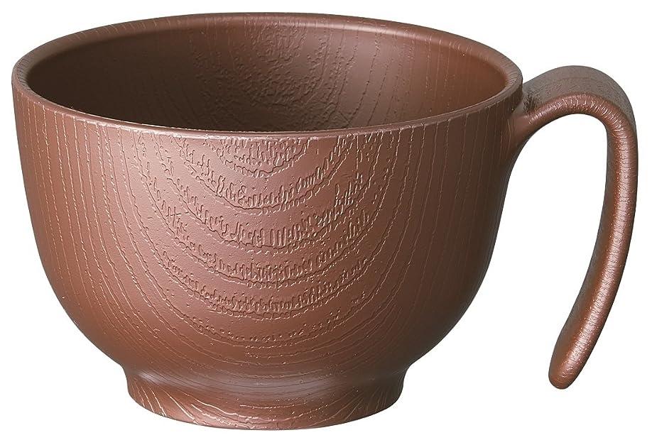 対処進む調和スケーター 木目 持ちやすい 茶碗 370ml ハンドル付 ブラウン 日本製 NBLS1H