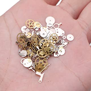 WEFOO Steampunk Accessories,  Mixed Time Gear Steam Punk Machinery Jewelry for Nail or Face Decoration