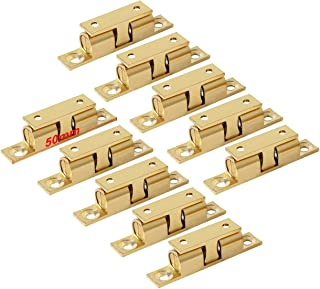 LOOTICH Brass Door Double Ball Tension Catches 50mm for Cabinet Kitchen Bathroom Cupboards Wardrobes Roller Latches Silent Locks Stopper (10 Pcs)