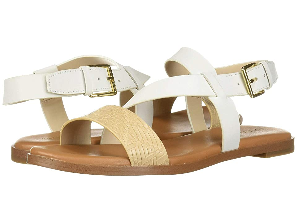 Cole Haan Findra Strappy Sandal (White Leather/Nude Woven) Women