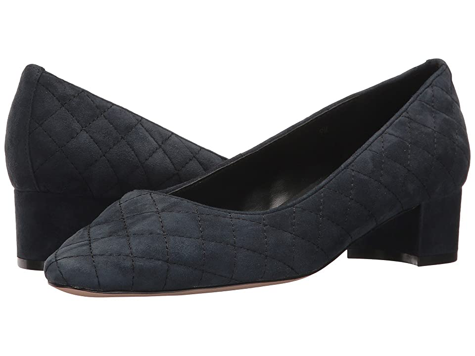 Vaneli April (Navy Suede/Black Stitch) Women