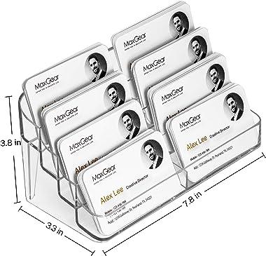MaxGear Acrylic Business Card Holder for Desk Multiple Business Card Holders, Business Card Stand Business Card Display Holde