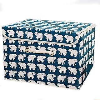 Panier de rangement Boîte de rangement en tissu Oxford couvert Boîte de rangement sous-vêtements Boîte de rangement de vêt...