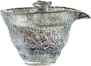 クリスタル蓋碗ティーカップ・中国ガラス蓋碗ティーカップ・和風ガラス蓋碗ティーカップ・和風蓋碗ティーカップ・伝統的なティーカップ・蓋付きティーカップ220ml