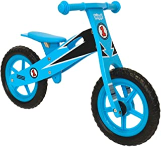 Boppi Kids Wooden Balance Bike - 2, 3, 4 and 5 Years - Blue Racer
