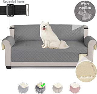TAOCOCO Funda de sofá Impermeable Funda de cojín de protección para Mascotas Funda de sofá antisuciedad (Gris Claro/ 3 Plazas 165 * 190cm)