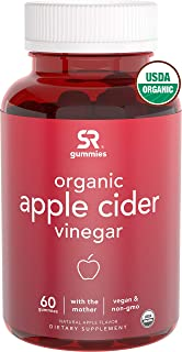 New! Organic Apple Cider Vinegar Gummies with The Mother | The First USDA Organic ACV Available | Non-GMO Verified, Vegan Certified (60 Yummy Gummies)