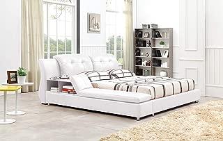Greatime B2003 Platform Bed (King, White)
