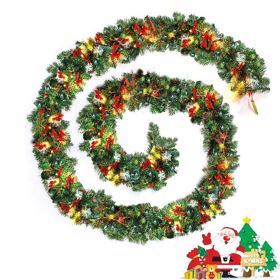 登録スリチンモイボーナスLittlegrassjp クリスマス モール DIY ライト付き ガーランド クリスマス パーティー装飾藤 クリスマス オーナメント クリスマスリース クリスマス飾り 置物 クリスマスツリー装飾 ゴールド 松の葉モール 部屋 玄関 飾り 装飾品 華やか
