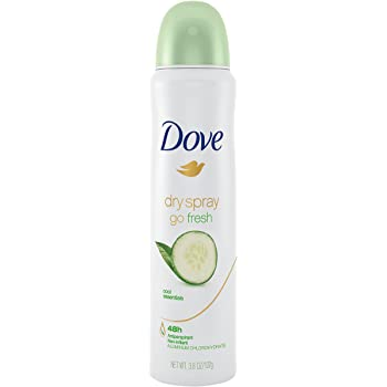 Dove Dry Spray Antiperspirant Deodorant, Cool Essentials, 3.8 Ounce (Pack of 1)