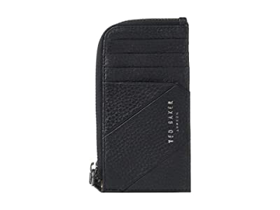Ted Baker Fitcard Seamed Leather Cardholder (Black) Credit card Wallet