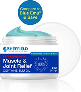 Sheffield Muscle & Joint Pain Relief Cream for Arthritis & Sore Muscles, with Emu Oil