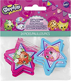 Wilton 2113-7116 24 Count Shopkins Fun Pix, Assorted