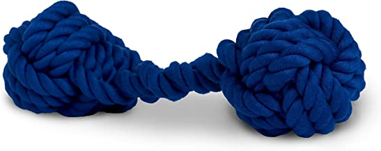 Rocco & Roxie Rope Dog Toy - Bone Shaped Cotton Tug Toys Clean Teeth As Dogs Chew (Sage Green, Powder Blue, or Navy)