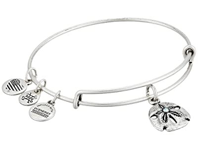 Alex and Ani Seaside Sand Dollar III Bangle (Rafaelian Silver) Bracelet