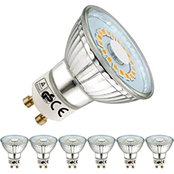 EACLL Bombillas LED GU10 2700K Blanco Cálido 5W 535 Lúmenes Equivalente 50W Halógena. Sin Estroboscópica, 120 ° Luz Blanca Cálida Spotlight LED, 6 Pack: Amazon.es: Iluminación