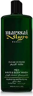 Marssai Men Hair & Body Wash, Clean Vetiver, 440 ml