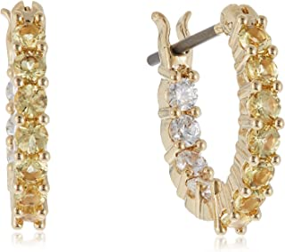 SWAROVSKI Women's Vittore Earring Jewelry Collection, Gold Tone Crystals, Clear Crystals