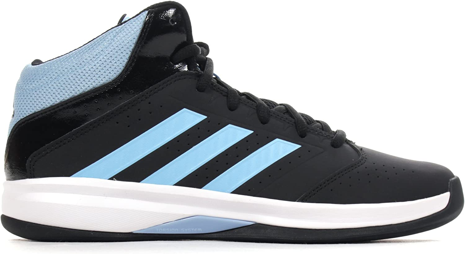 Adidas Isolation 2 Mens Basketball High Top Trainer shoes Black  bluee - UK 11