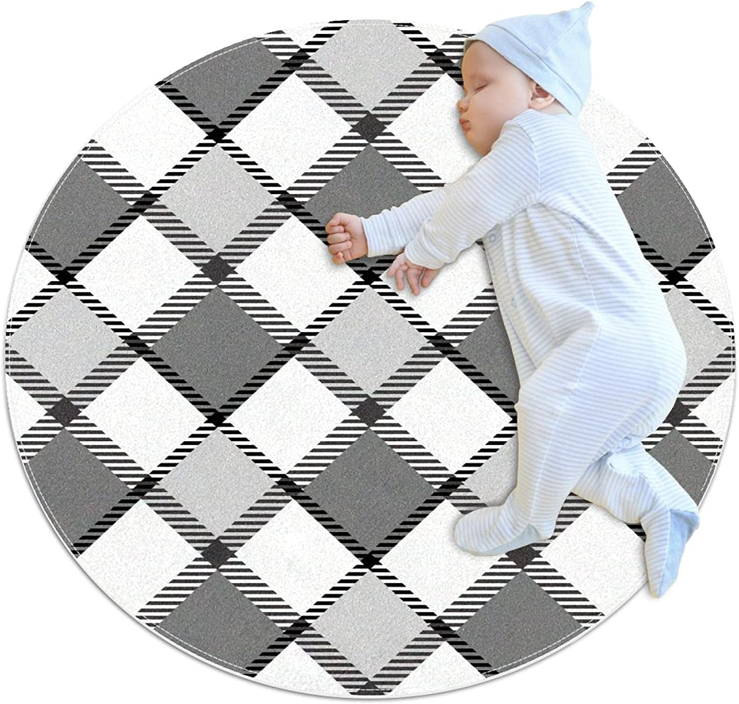 Plaid Fabric price All stores are sold Patterns UK Kids Round Blanket Game C Pattern
