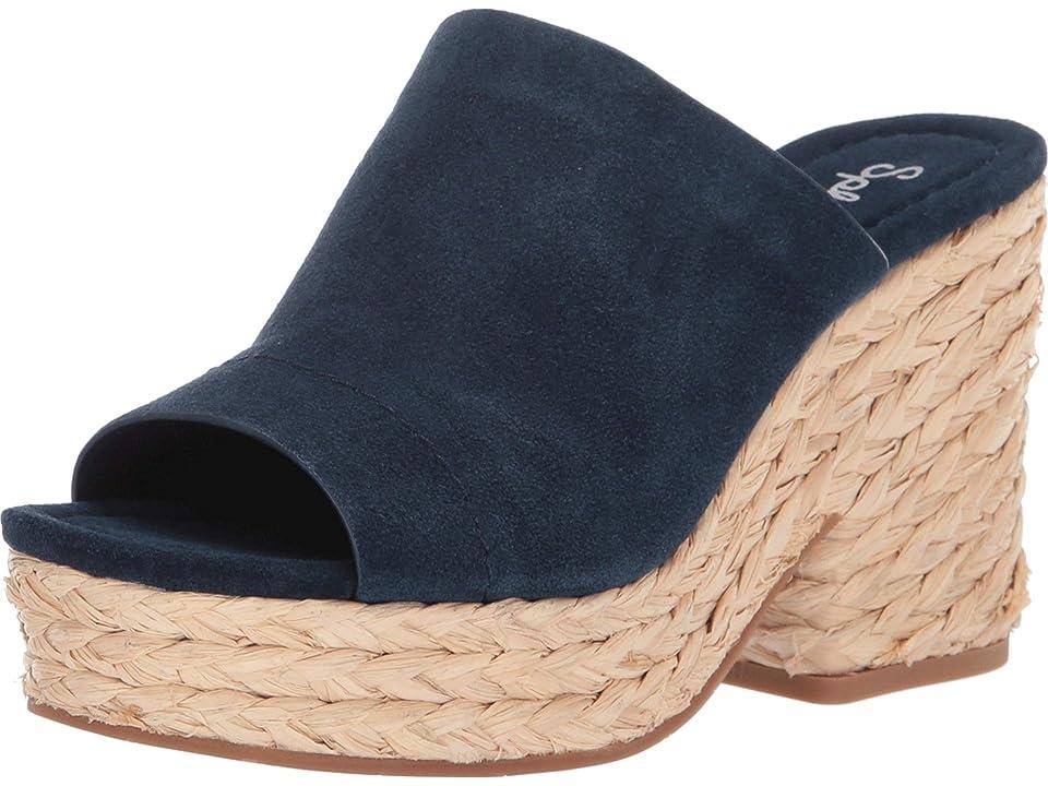 Splendid Theodore (Navy Cow Suede) Women's Clog/Mule Shoes