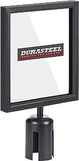 DuraSteel Stanchion Sign Holder - Portrait Display for 8.5