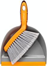 Dustpan and Brush Set for House Floor Sofa Office Desk Cleaning Tool Ergonomic Brush Design with Comfort Handle (Grey)