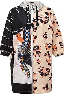 Women's Trendy Print Pullover Hoodie Sweater Long Loose Cardigan Jacket