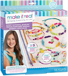 Make It Real - Scent-Sational Jewelry. DIY Scented Charm Bracelet Making Kit for Girls with Fruit Punch Fragrance. Arts and Crafts Kit to Create Unique Tween Bracelets with Beads and Scented Charms