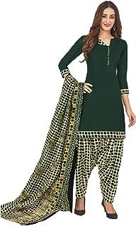 Jevi Prints Women's Cotton Printed Readymade Stitched Salwar Suit Dupatta (SUIT_CP-238)