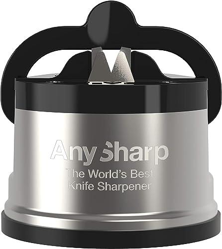 AnySharp ASKSPRO Knife Sharpener, Gunmetal Grey/Black