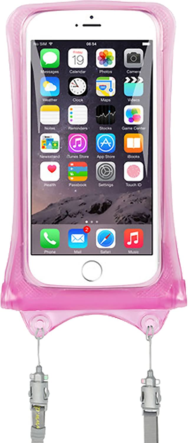 AquaVault 100% Waterproof Floating Smart Phone Case & Money Pouch, Fits All Phones, Made from Premium Heavy Duty PVC for Added Drop Protection, Includes Adjustable Neck Strap