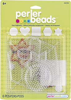 Perler Beads Assorted Small and Large Pegboards for Kid's Crafts, 6 pcs