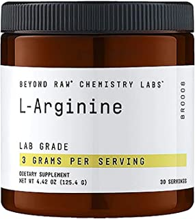 Beyond Raw Chemistry Labs L-Arginine, 30 Servings, Fuels Exercise and Supports Recovery