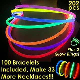 Glow Sticks Bulk Wholesale Necklaces, 100 22