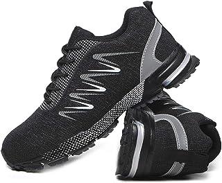 Legou Chaussures de travail unisexe avec bout en acier anti-crevaison