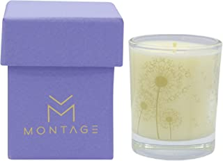 Montage Lifestyle Lavender Chamomile & Geranium Soy Wax Votive Candle- Sweet Dreams- Sleep Aromatherapy Candle for Relaxation with 100% Pure Essential Oils- 1.6OZ- 15Hrs- Handmade in Greece