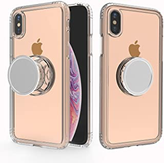 Muntinfe iPhone X Case with Stand, Clear iPhone Xs Case, Stress Relief Anxiety Toys/Mirror/Magnetic Available/Slim Hybrid Shockproof Protective Case with Kickstand for iPhone Xs/X/10 5.8