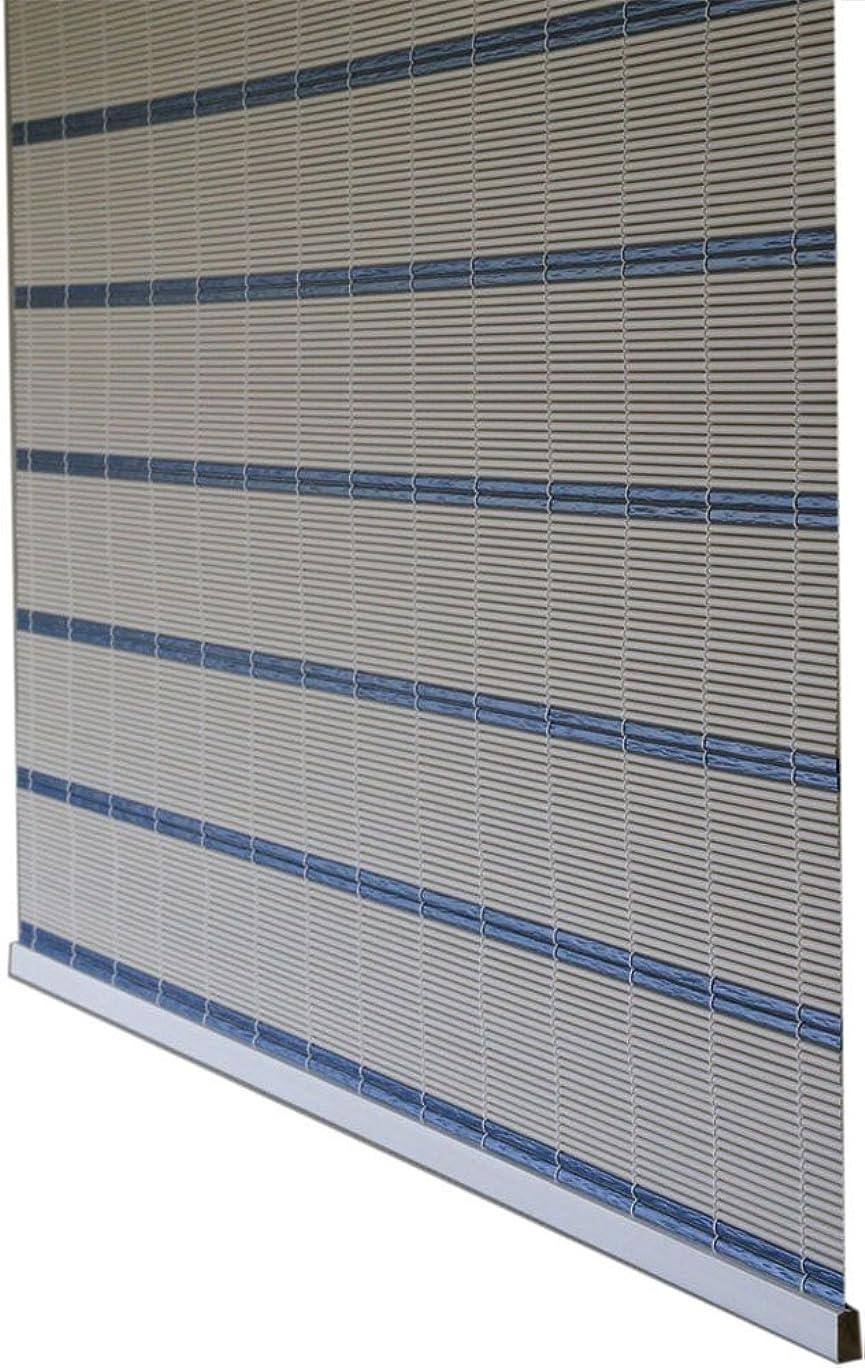 用心深い直面する圧縮する三宅製簾 すだれ スリムライン 約88x180cm ブルー