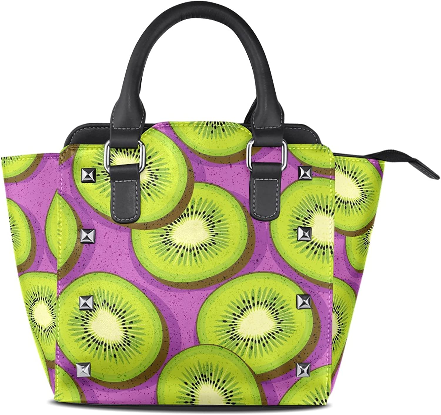 My Little Nest Women's Top Handle Satchel Handbag Kiwi Fruit Ladies PU Leather Shoulder Bag Crossbody Bag