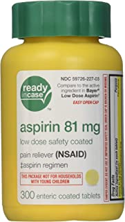 Life Extension - Aspirin Adult Pain Reliever (NSAID) Low Strength 81 mg. - 300 Enteric-Coated Tablets