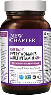 New Chapter Women's Multivitamin + Immune Support - Every Woman's One Daily 40+, Fermented with...