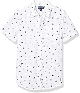 French Toast Boys' Short Sleeve Woven Shirt